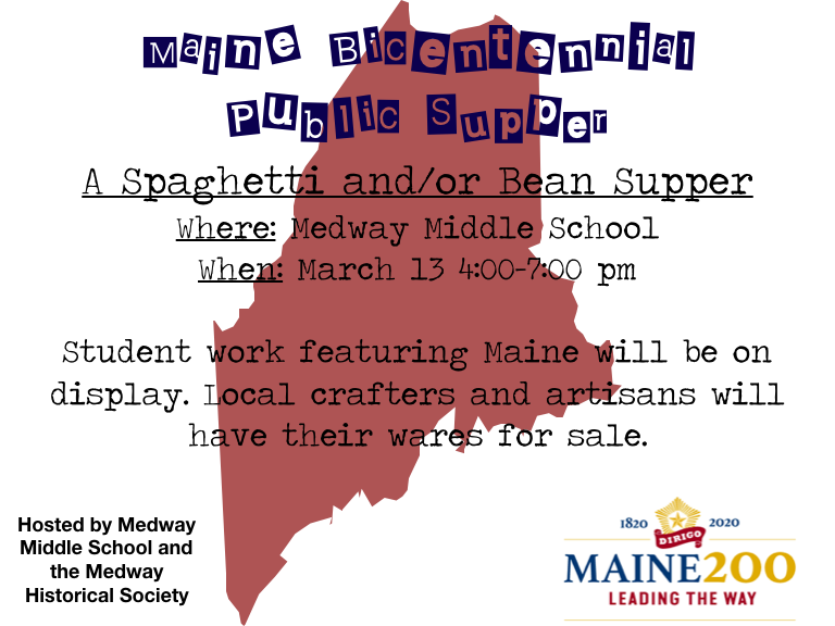 Maine's Bicentennial Public Supper